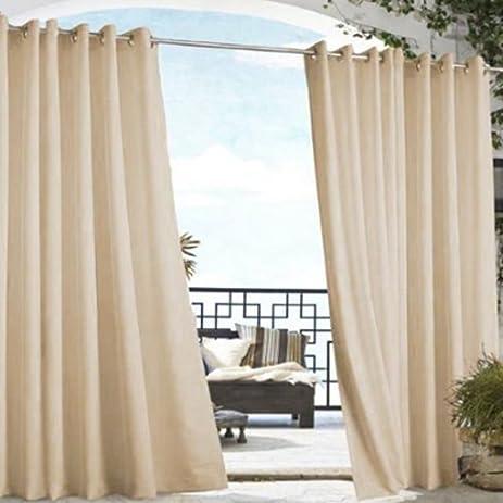 Outdoor Decor Gazebo Grommet Outdoor Curtain Panel 50 X 96 Khaki