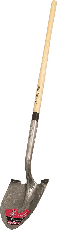 Truper 31207 Tru Pro Round Point Shovel, Long Handle, 48-Inch