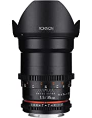 Rokinon Cine DS DS35M-C 35mm T1.5 AS IF UMC Full Frame Cine Wide Angle Lens for Canon EF