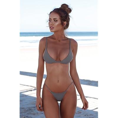 Maillot de bain bikini moderne et confortable - triangle élégant, moderne et confortable en duplex maillot bikini