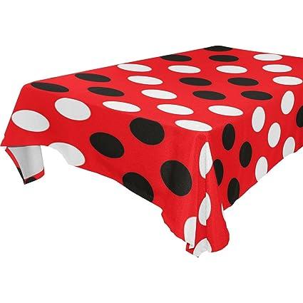Amazon.com: baihuishop Red Black Polka Dot Pattern Floral ...