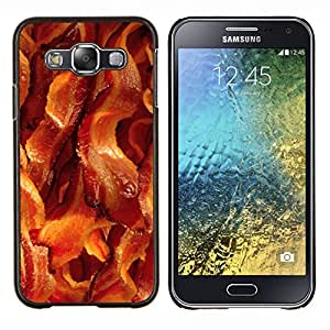 Dragon Case - FOR Samsung Galaxy E5 E500 - bacon pork meat crispy brown food - Caja protectora de pl??stico duro de la cubierta Dise?¡Ào Slim Fit