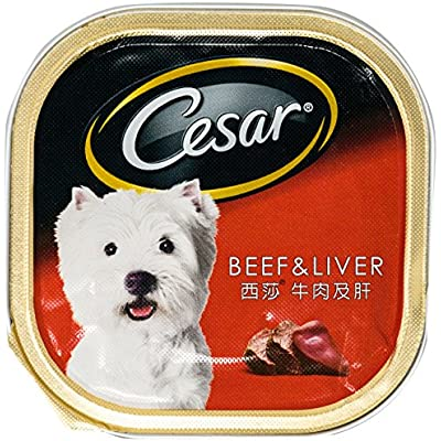 Cesar Dog Food Beef & Liver Flavor 100g. 3.52 Oz.
