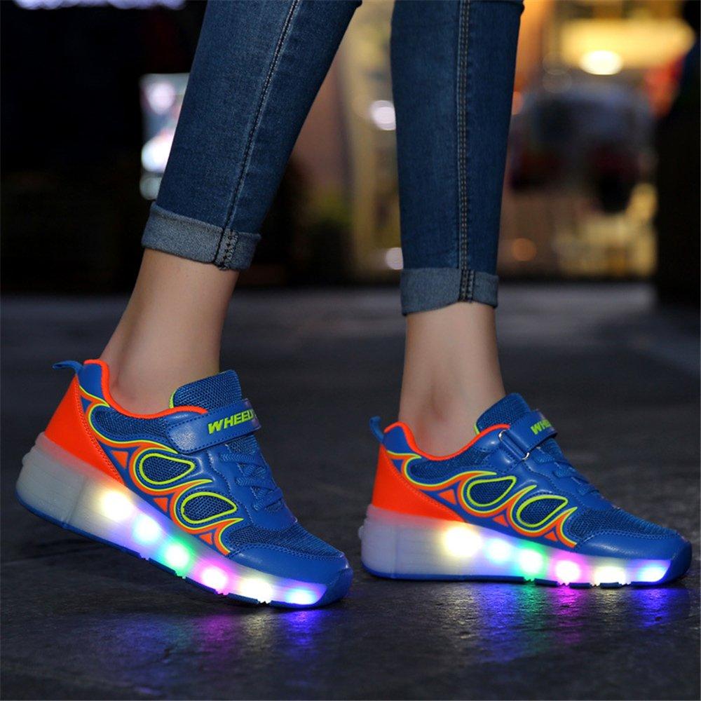 LYLIFE Unisex Kids Light up Wheels Roller Shoes Skates Sneakers