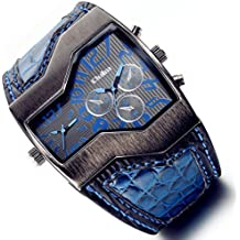 Lancardo Men Boys Blue Military Dual Movement Wristwatch for Thanksgiving Christmas