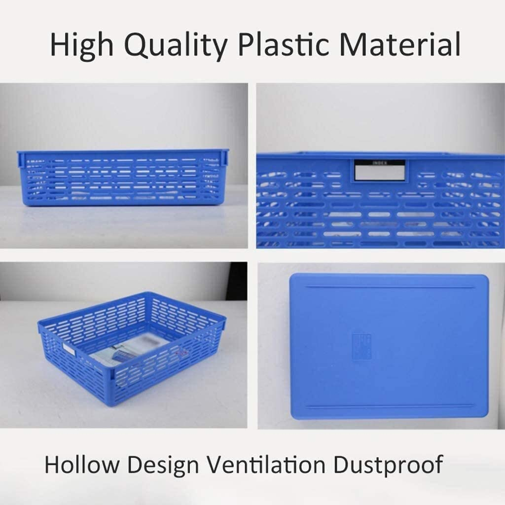Organizer File Shelf, Mesh Briefcase Storage Basket Storage Box Plastic Data Finishing Bar, Blue, 32.4 24 8.5cm Desktop Organizer: Home & Kitchen