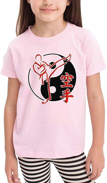 Yin and Yang - Camiseta de Manga Corta para niños y niñas, diseño de Dibujos Animados Rosa Rosa 5-6 Años: Amazon.es: Ropa y accesorios