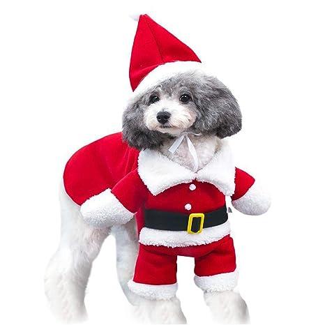 mama stadt Disfraces de Navidad para Mascotas Traje de Papá Noel ...
