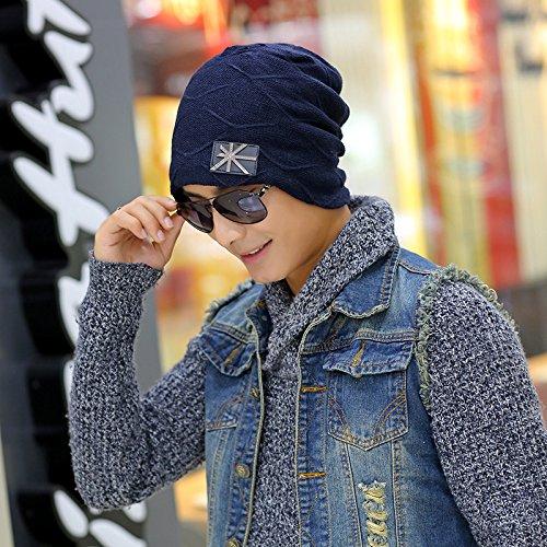Maozi Sombreros aliviando 3 Regalo Chao más Lana Hombres par Tejer Sombrero un Lana 2 Unión de Coreana Invierno Sombreros como rxIU7rq