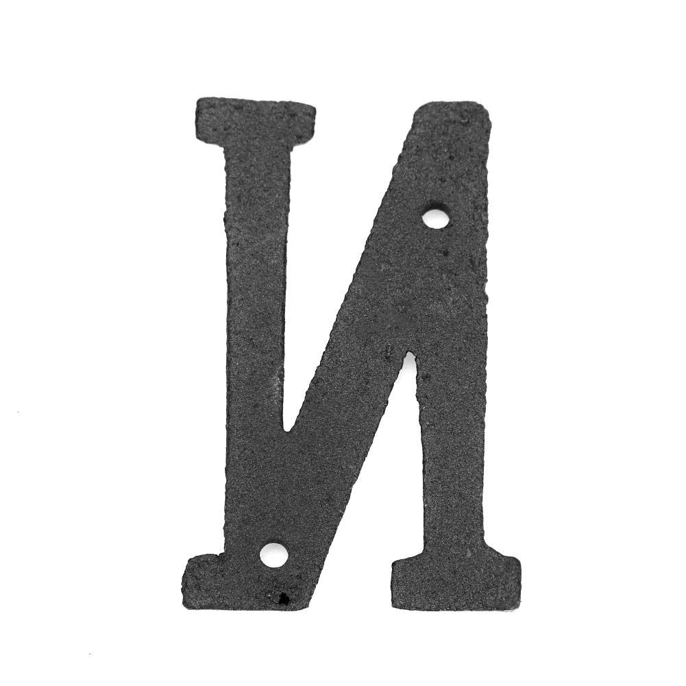Matefielduk Letras Casa Exterior,Letras Hierro decoraci/ón Placa Letras de Metal Hierro Fundido Letrero de La Casa para DIY Puerta decoraci/ón de Pared