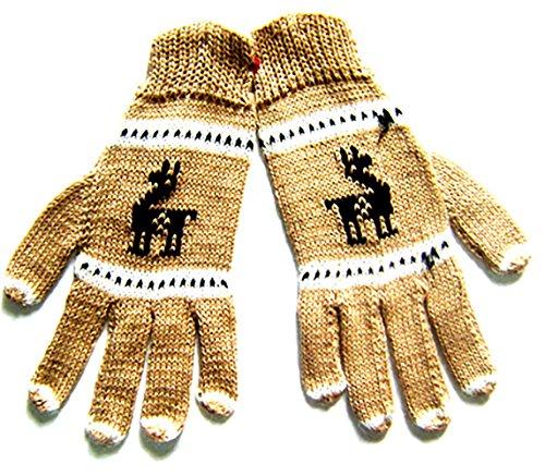 Alpaca Gloves - Alpaca Gloves - Llamita (Light Brown)