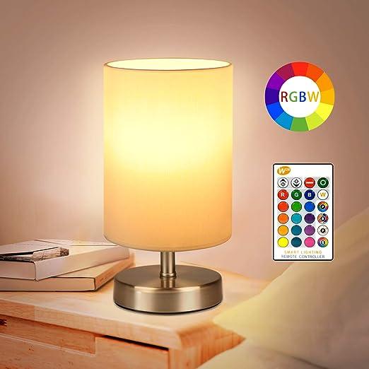 LED Farbwechsler Lese Nacht Tisch Lampen Dimmer Weiß Wohn Schlaf Zimmer Leuchten