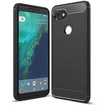 NALIA Funda Carbono Compatible con Google Pixel 2 XL, Protectora ...