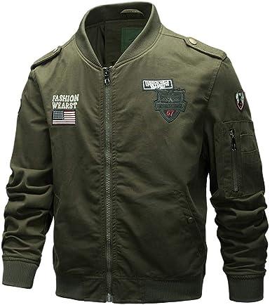 chaqueta parka militar hombre
