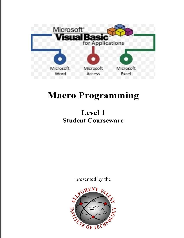 Amazon com: Visual Basic for Applications (VBA) Level 1