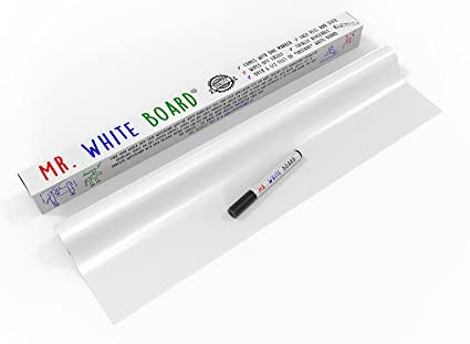 Pizarra blanca borrable adhesiva, casi 2 metros de pizarra ...