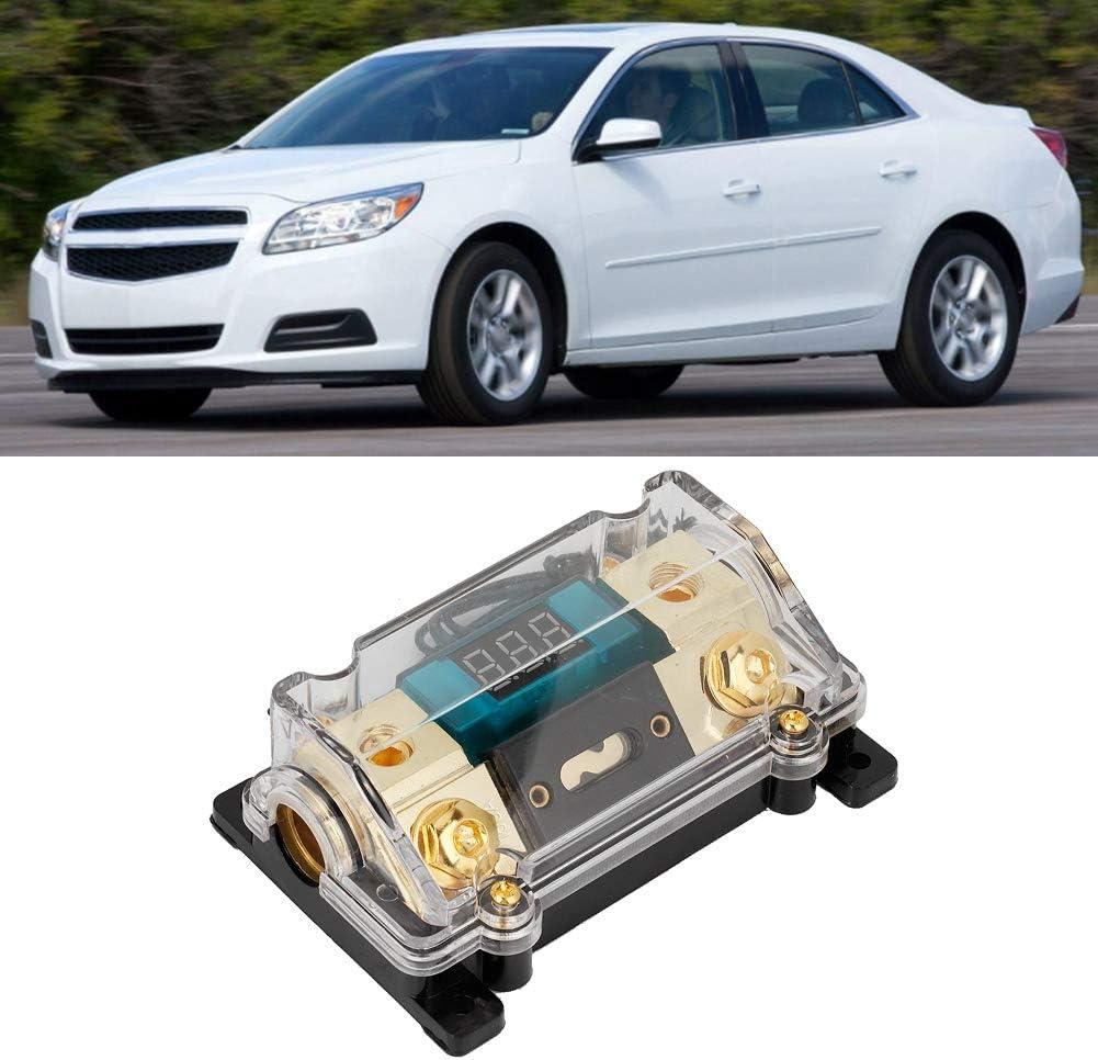 Aramox Car Fuses Holder 200A Car Audio Power Fuses Holder Stereo Distribution Block Box Digital Display