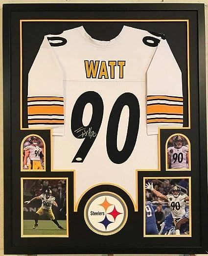 7648dfcc1 Framed T.J. Tj Watt Autographed Signed Pittsburgh Steelers Jersey - JSA  Authentication