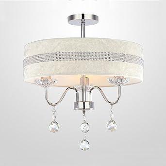 Europäische Einfache Kristall Kronleuchter, Moderne Garten Führte  Schlafzimmer Deckenleuchte, Restaurant Wohnzimmer Dekoration Stoff