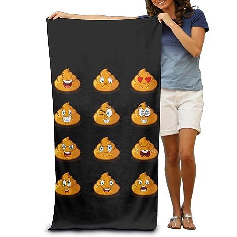 Caca Emoji toallas de baño suave cuidado fácil piscina toalla de secado rápido toalla de viaje