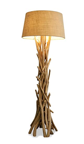 levandeo Lampe 97046 Stehlampe 155cm hoch Holz Holzlampe ...