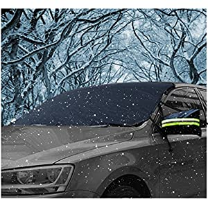 "Windshield Snow Cover, AUPERTO Ice Removal Visor Protector 58"" x 32"" with Mirror Cover Winter Summer Auto Shade (Best for Sedan)"