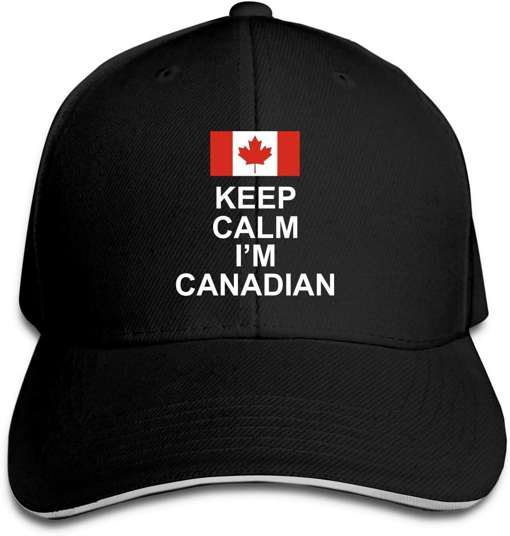 WFIRE Adult Baseball Caps Keep Calm Im Canadian Custom Adjustable Sandwich Cap Casquette Hats