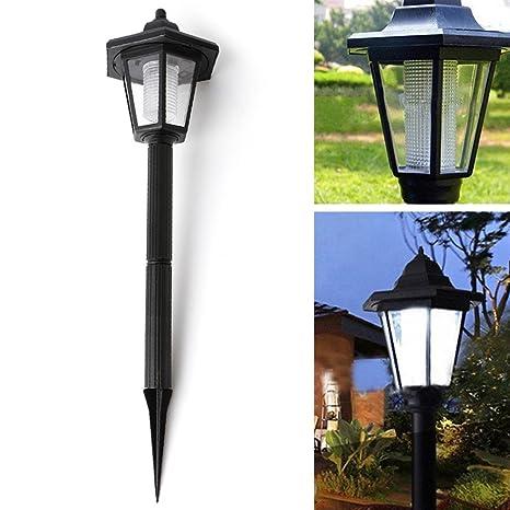 1Pc Light Solar Power LED Wall Path Landscape Fence Balcony Lamp Energy Saving