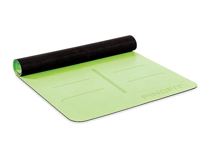 PINOFIT Yogamatte mit Navigationsdruck – rutschfeste Gymnastikmatte – dünn und ultraleicht mit Aufdruck für Yoga & Pilates