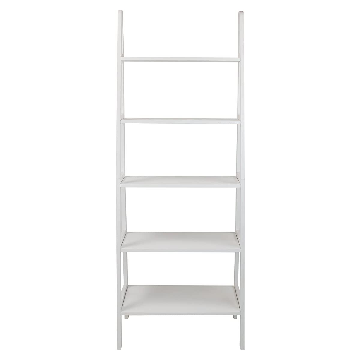 Casual Home 176-51 5-Shelf Ladder Bookcase, White