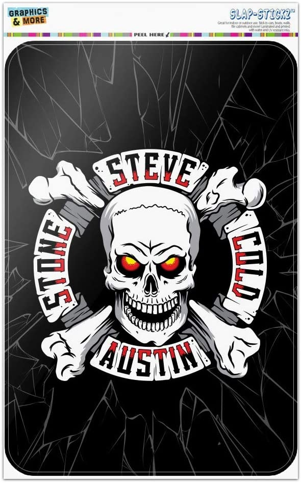 GRAPHICS & MORE WWE Stone Cold Steve Austin Broken Glass Logo Home Business Office Sign