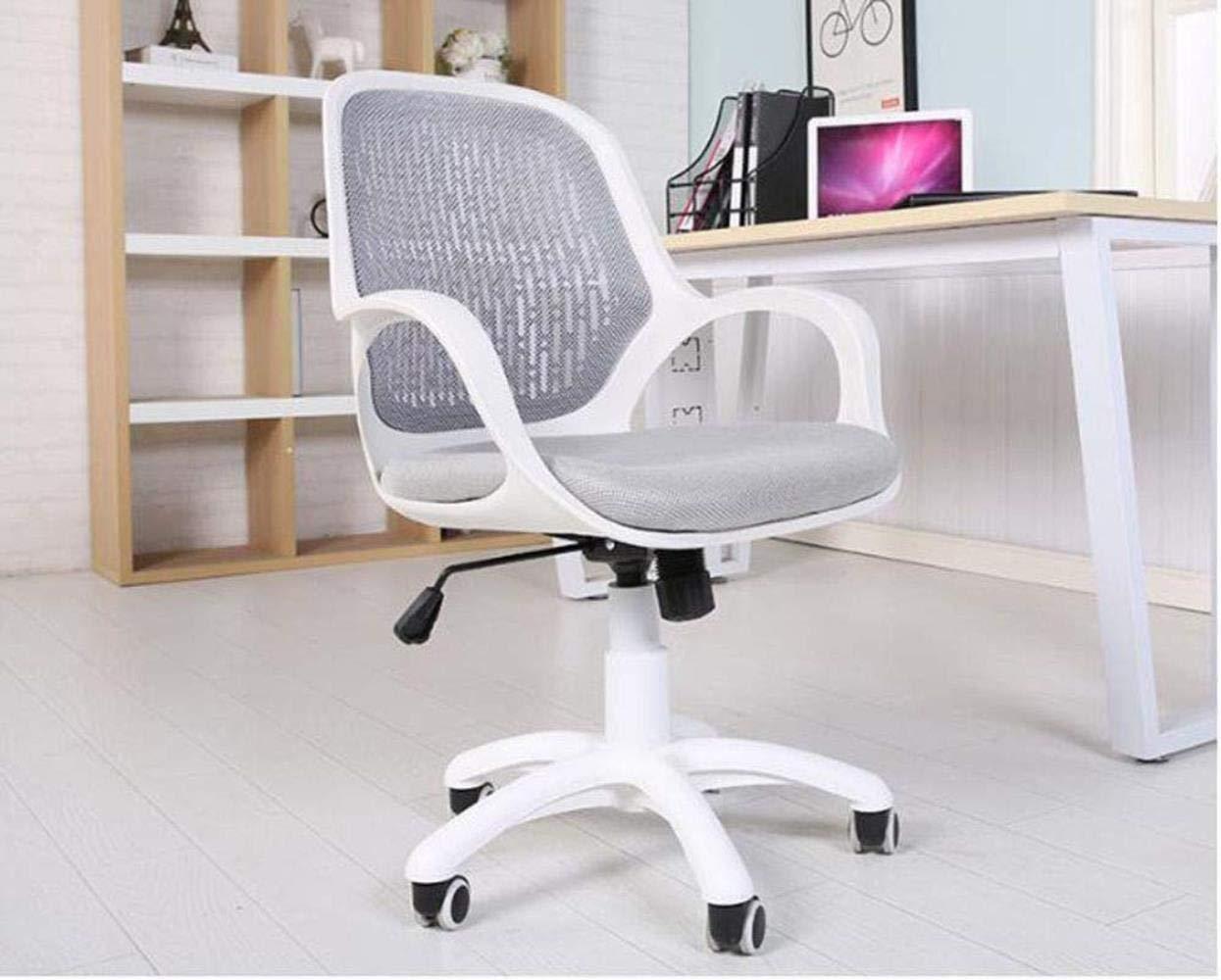 Barstolar THBEIBEI Ofiice stol svängbar stol spelstol datorstol uppgift skrivbord stol studentstol, lyft kontorsstol dator stol nät hushåll rotation (färg: grå) Grått
