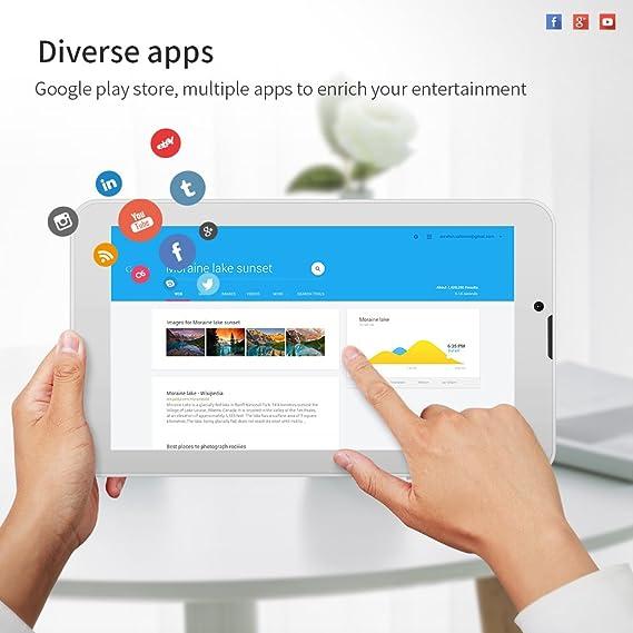 Yuntab E706 - Tablet táctil de 7 Pulgadas (1 + 8 GB, Android, Wi-Fi, Google Play Store)
