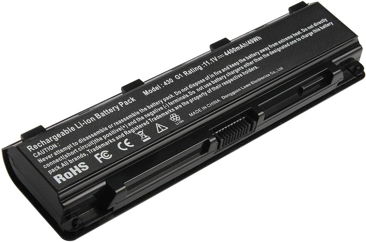 Replacement Laptop Battery PA5109U-1BRS Compatible with Toshiba Satellite PABAS271 PABAS272 PABAS273 PA5110U-1BRS PA5108U-1BRS 6-Cell Li-Ion