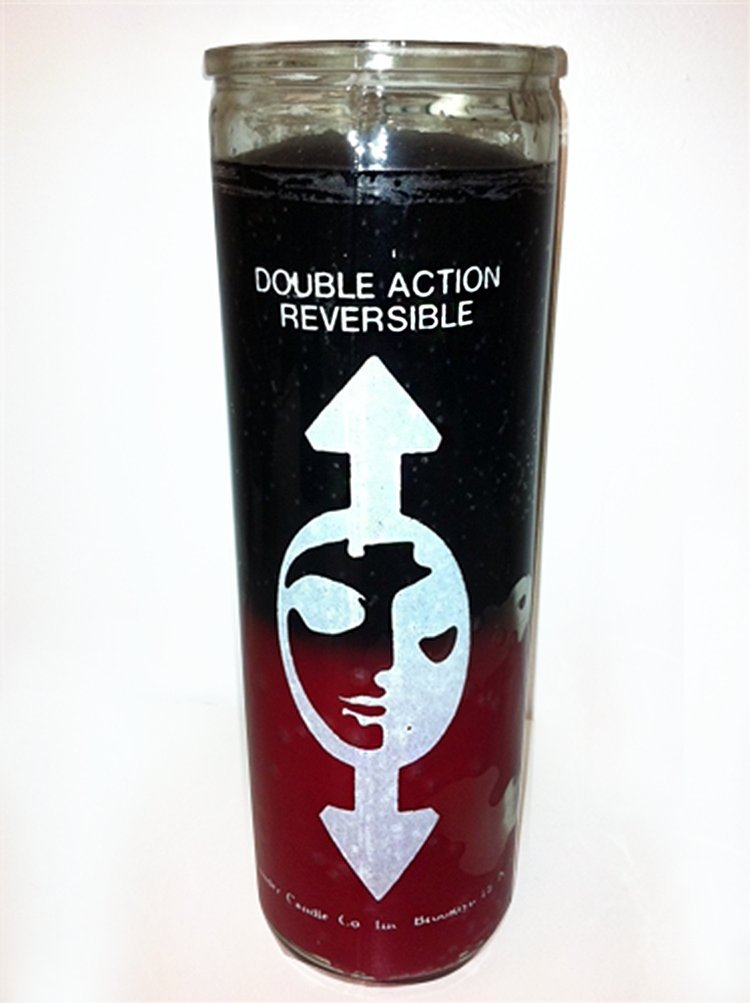 1 X 7 Day Glass Candle Reversible - Black and Red
