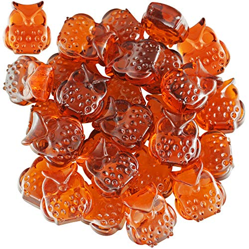besttoyhome 30pcs Mini Acrylic Owl Table Scatters Vase Filler Fall Decoration