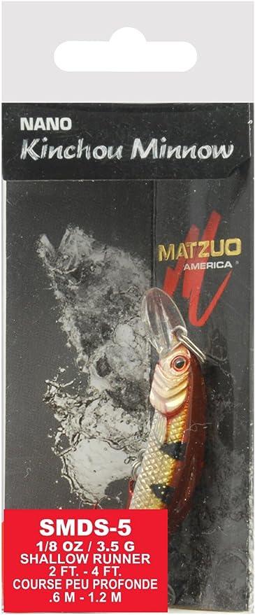 MATZUO  Nano Kinchou Minnow Size 5-1//8 oz Silver//Black Back