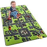 """Softlife Kids Carpet Play Mat Rug Large 48"""" x 72"""" City Life Great for Playing with Cars Children Area Rugs for Bedroom Playroom Nursery"""