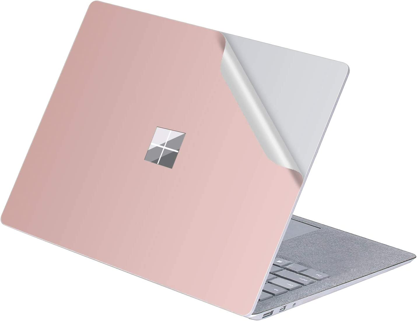 "MasiBloom 1 PCS Protective Decal Sticker Anti-Scratch Vinyl Laptop Cover Skin for 13"" 13.5 inch Microsoft Surface Laptop 3 / 2 / 1 2019 2018 2017 Released (for Surface Laptop,A Pure Color- Rose Gold)"