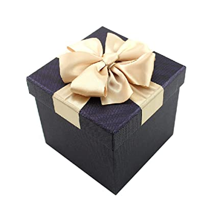 Kylin Express Pretty Gift Case Square Decorative Storage Containers Gift  Box With Ribbon Black