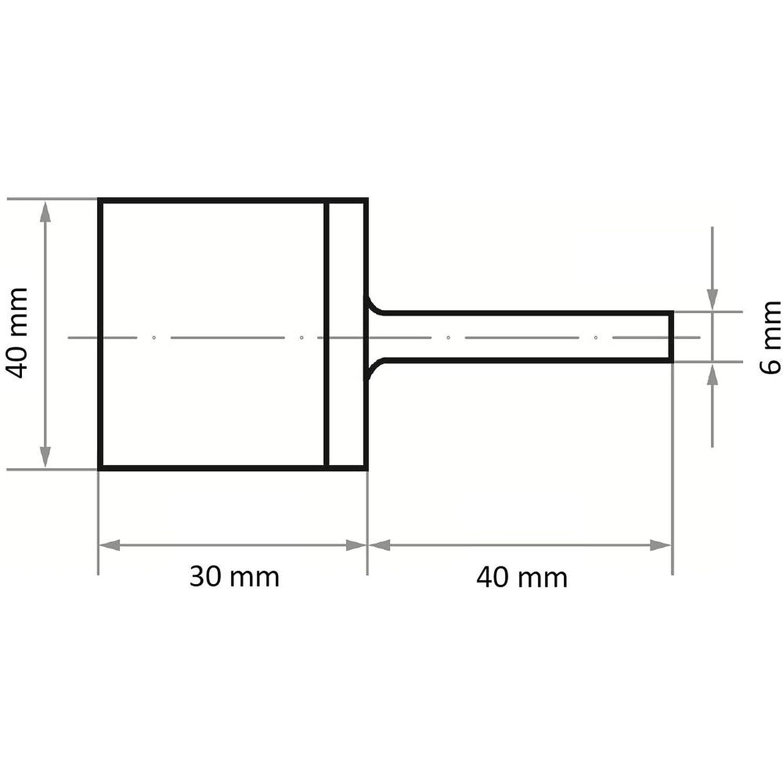 LUKAS Marmorierstift P6MA universal Medium 20x30 mm Schaft 6 mm Korn 46