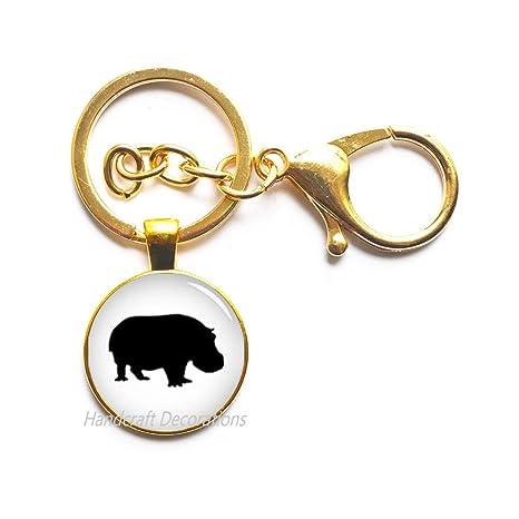 Amazon.com: Llavero hipopótamo, llavero hipopótamo, llavero ...