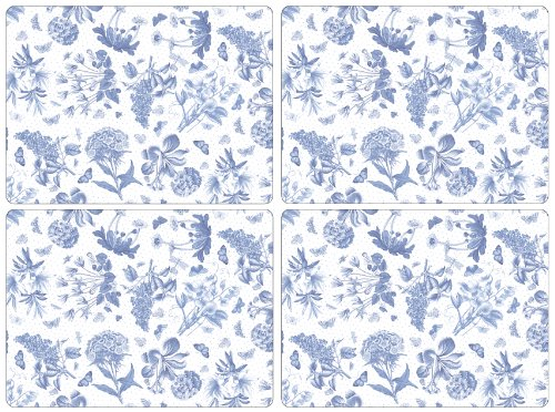 PORTMEIRION BOTANIC BLUE PLACEMATS DINNER SIZE SET OF 4 by Portmeirion