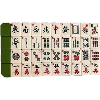 NuoEn Mahjong Leisure Acrylic Material Mind Games Set da Viaggio da Viaggio 36mm ( Color : Verde )