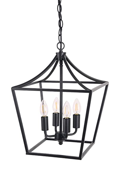 Homenovo Lighting Marden 4 Light Chandelier Industrial Style