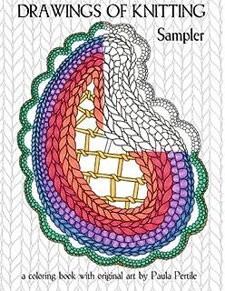 drawings of knitting sampler a coloring book with original art by paula pertile - Coloring Book Yarns
