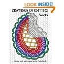 Drawings of Knitting Sampler: a coloring book with original art by Paula Pertile