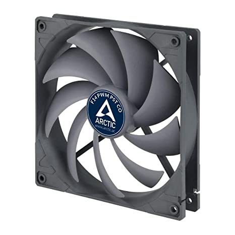 ARCTIC F14 PWM PST CO - 140 mm PWM PST Case Fan for Continuous Operation,  Cooler with PST-Port (PWM Sharing Technology) and Dual Ball Bearing,
