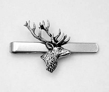 f21b915ba216 Stag's Head Tie Clip (slide), Handmade, Gift Boxed, Deer (ab ...