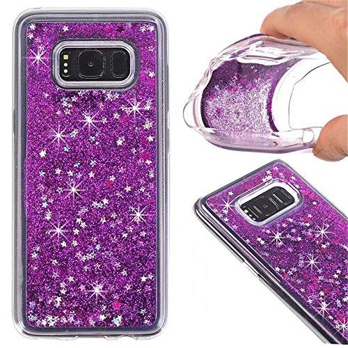 1.5' Glitter (TOPBIN Samsung Galaxy S7 Edge Case, Liquid Quicksand Case , Moving Shine Glitter Fashion Creative Design Scratch-Resistant Soft TPU Dual Protective Cover for Samsung Galaxy S7 Edge (Purple))